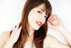 Beautiful brunette woman portrait Stock Images