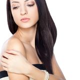 Beautiful brunette woman portrait Royalty Free Stock Photography