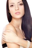 Beautiful brunette woman portrait Stock Photo