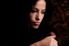 Beautiful brunette woman portrait  Royalty Free Stock Photography