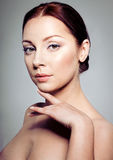Beautiful brunette woman royalty free stock images