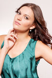 Beautiful brunette woman portrait with makeup Royalty Free Stock Photos