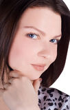 Beautiful Brunette Woman Portrait Royalty Free Stock Photo