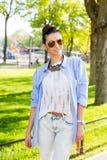 Beautiful brunette woman posing Stock Photography