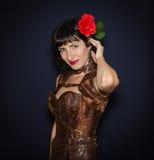Beautiful brunette woman Stock Photos