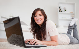 Beautiful brunette woman relaxing Stock Image