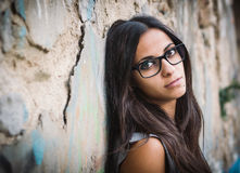 Beautiful brunette woman with sunglasses Royalty Free Stock Images
