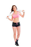 Beautiful brunette after workout Royalty Free Stock Photography