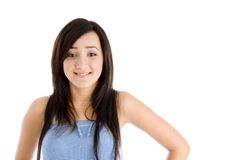 Beautiful brunette young girl Stock Photos