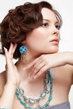 Beautiful brunette young woman Stock Photography