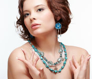 Beautiful brunette young woman Royalty Free Stock Image