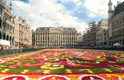 Beautiful Brussels flower carpet Stock Photography