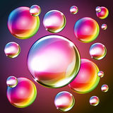 Beautiful bubbles of soap 2014 b Royalty Free Stock Image