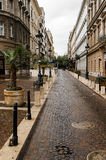 Beautiful Budapest Street. The old narrow streets of Budapest in Hungary Stock Image