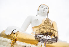 Beautiful buddha image outdoor in chiang mai temple Royalty Free Stock Photography