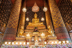 Beautiful buddha image in phra ubosot at Wat Hong Rattanaram Rat Stock Photos