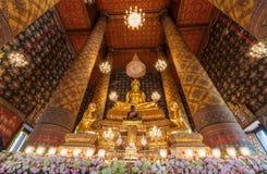 Beautiful buddha image in phra ubosot at Wat Hong Rattanaram Rat Royalty Free Stock Photo