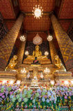 Beautiful buddha image in phra ubosot at Wat Hong Rattanaram Rat Stock Images