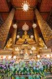 Beautiful buddha image in phra ubosot at Wat Hong Rattanaram Rat Stock Images