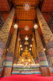 Beautiful buddha image in phra ubosot at Wat Hong Rattanaram Rat Royalty Free Stock Images
