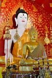 Beautiful Buddha Image In Temple. Of Thailand Royalty Free Stock Photos