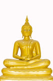 Beautiful Buddha image in Thailand  a white backgr Stock Photography