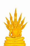 Beautiful Buddha image in Thailand a white background Royalty Free Stock Photos