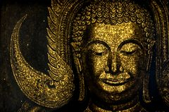 Beautiful Buddha`s face image - Calmness royalty free stock images