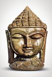 A beautiful Buddha statue on a gray background Royalty Free Stock Images