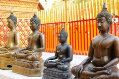 A beautiful buddha statues seen in Wat Phrathat Doi Suthep at Ch. Iang Mai, Thailand Stock Images