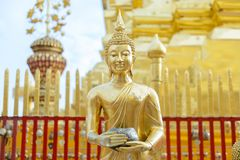A beautiful buddha statues seen in Wat Phrathat Doi Suthep at Ch. Iang Mai, Thailand Royalty Free Stock Photo