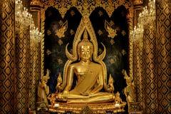 Beautiful Buddha in Thailand. Pra Buddha Chinnarat , the most beautiful golden Buddhist statue in Thailand is located in Wat Phra Si Rattana Mahatha stock photography
