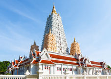 Beautiful buddhism thai  temple. Buddhism of temple wat yanasangwararam woramahawihan Royalty Free Stock Photo
