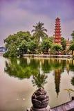 Beautiful buddhist temple in hanoi vietnam asia Royalty Free Stock Photography