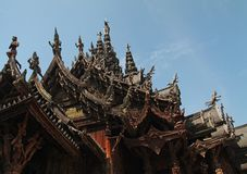 Beautiful Buddhist temple Stock Photography