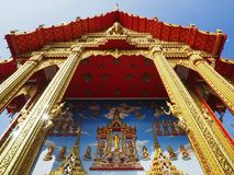 Free Beautiful Buddhist Temple Soars Into Blue Sky Royalty Free Stock Photography - 106214847