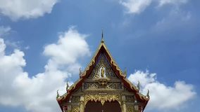 Beautiful Thai temple in peaceful environment stock footage
