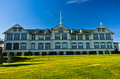 Beautiful building of Akureyri Junior College, north Iceland Royalty Free Stock Photo