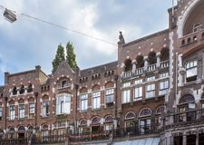 Beautiful building in Amsterdam Royalty Free Stock Photography
