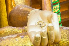 Temple thai buddha in thailand at Kanchanaburi Royalty Free Stock Image
