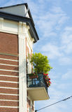 Beautiful building and balcony Stock Photography