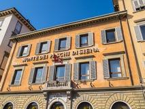 Beautiful building of the Bank of Siena in Pisa - PISA ITALY - SEPTEMBER 13, 2017 Royalty Free Stock Image