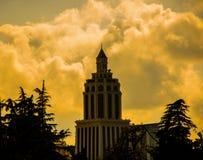 The beautiful building in Batumi Stock Image
