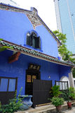 Beautiful building of Cheong Fatt Tze - The Blue Mansion in Geor Stock Image
