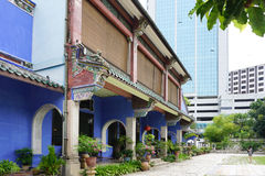 Beautiful building of Cheong Fatt Tze - The Blue Mansion in Geor Royalty Free Stock Photos