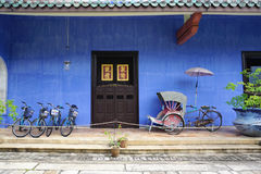 Beautiful building of Cheong Fatt Tze - The Blue Mansion in Geor Royalty Free Stock Images