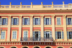 Beautiful building in the city  of Nice, France Royalty Free Stock Photo