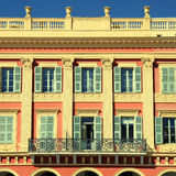 Beautiful building in the city  of Nice, France Stock Images