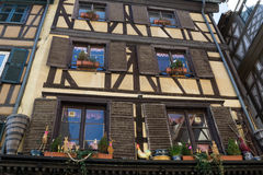 Beautiful building facade with windows in Petite France Stock Photos