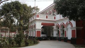 Beautiful Building Front side view Rangpur Custom House, Rangpur. This is a old building in Bangladesh stock photo